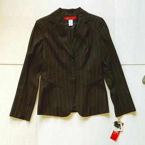 AK Anne Klein Chocolate Wool Jacket Size 2